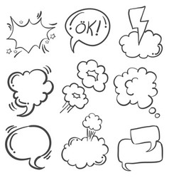 Art of hand draw text balloon vector