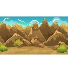 Background Of Mountains And Shrub vector