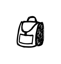 Backpack sketch on white background vector