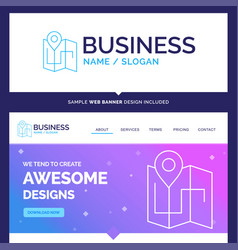 Beautiful business concept brand name map camping vector