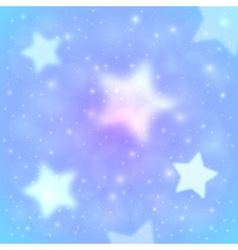 Blue blurred stars abstract background vector