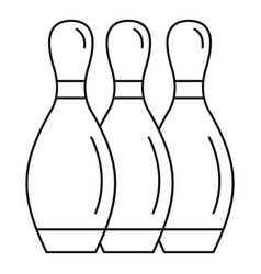 bowling skittles icon outline style vector image