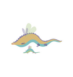Cartoon magic dragon with baby care concept vector