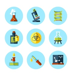 Chemistry icon set in modern flat style vector