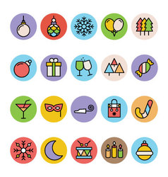 Christmas Icons 5 vector image