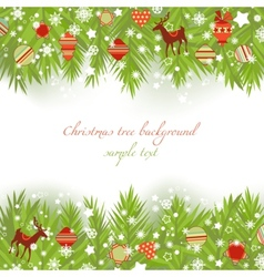 christmas tree borders vector image