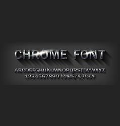chrome alphabet font vector image