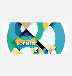 circles and triangles geometric abstract vector image