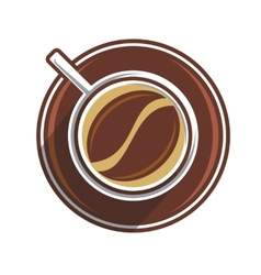 Coffee bean in a coffee cup vector