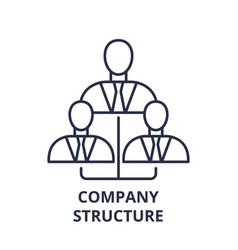 company structure line icon concept company vector image
