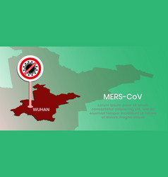 Coronavirus banners can be used to warn vector
