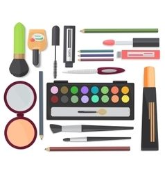 Cosmetic set isolated on a white background Top vector image