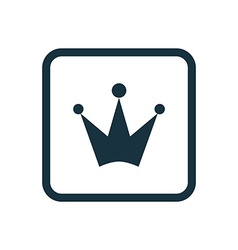 Crown icon Rounded squares button vector