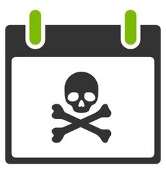 Death Skull Calendar Day Flat Icon vector