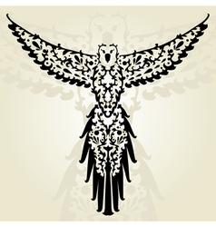 decorative parrot vector image