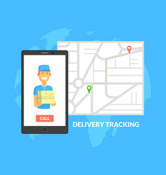 delivery trucking service courier worker vector image