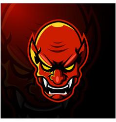 Devil head esport mascot logo vector