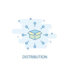 Distribution line concept simple line icon vector
