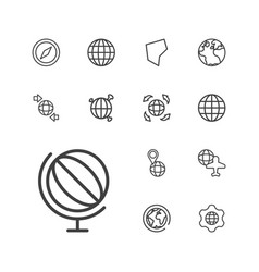 geography icons vector image