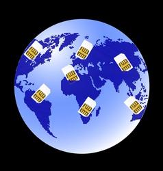 globe sim card vector image
