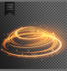 Glowing lens flare transparent light effect with vector