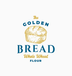 golden bread brick abstract sign symbol or logo vector image