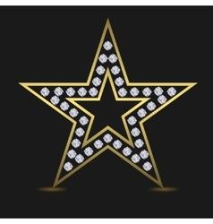 Golden luxury star vector image