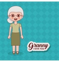 Grandmother granny cartoon design vector image
