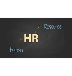 Hr human resource concept written on the text with vector