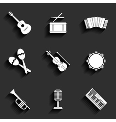 icon of musical equipment vector image