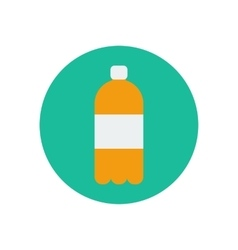 Juice water bottle vector image