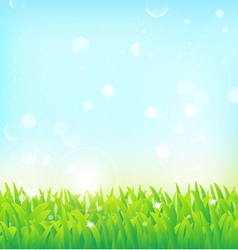 light spring field background vector image vector image