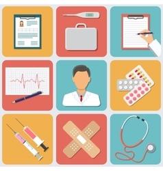 Medical Icons Set Flat Design vector image