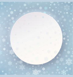 merry christmas happy new year white circle vector image