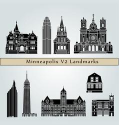 Minneapolis v2 landmarks vector