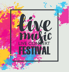music festival poster with bright abstract spots vector image