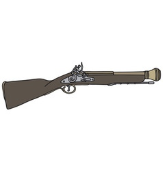 Old short rifle vector image