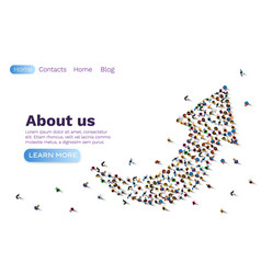 People up arrow group network web site banner vector