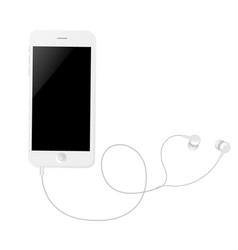 Phone with earphones vector