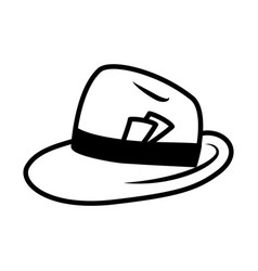 Press hat icon silhouette style vector