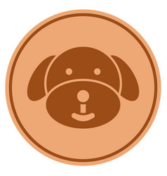 puppy bronze coin vector image