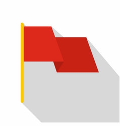 Red flag icon flat style vector