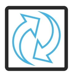 Refresh Arrows Framed Icon vector