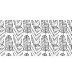 seamless pattern made monochrome feathers vector image
