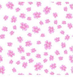 seamless sakura pattern vector image
