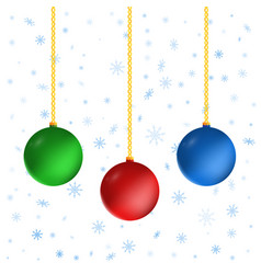 set of christmas balls isolated on white vector image
