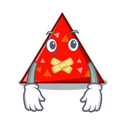 Silent triangel mascot cartoon style vector