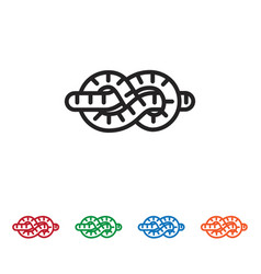snake icon vector image