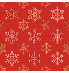 Snowflake seamless pattern Vintage outline version vector image