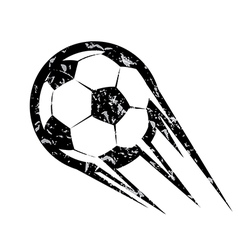 Soccer ball football symbol in grunge style vector